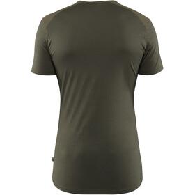 Fjällräven Keb Camiseta de Lana Hombre, laurel green-deep forest